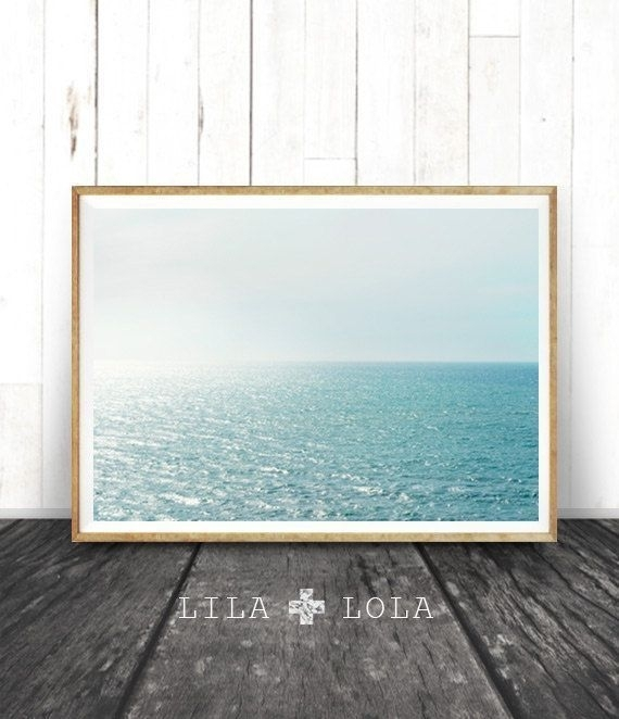 Beach Wall Art, Ocean Photography, Modern Beach Print, Printable Throughout Large Coastal Wall Art (Image 4 of 20)