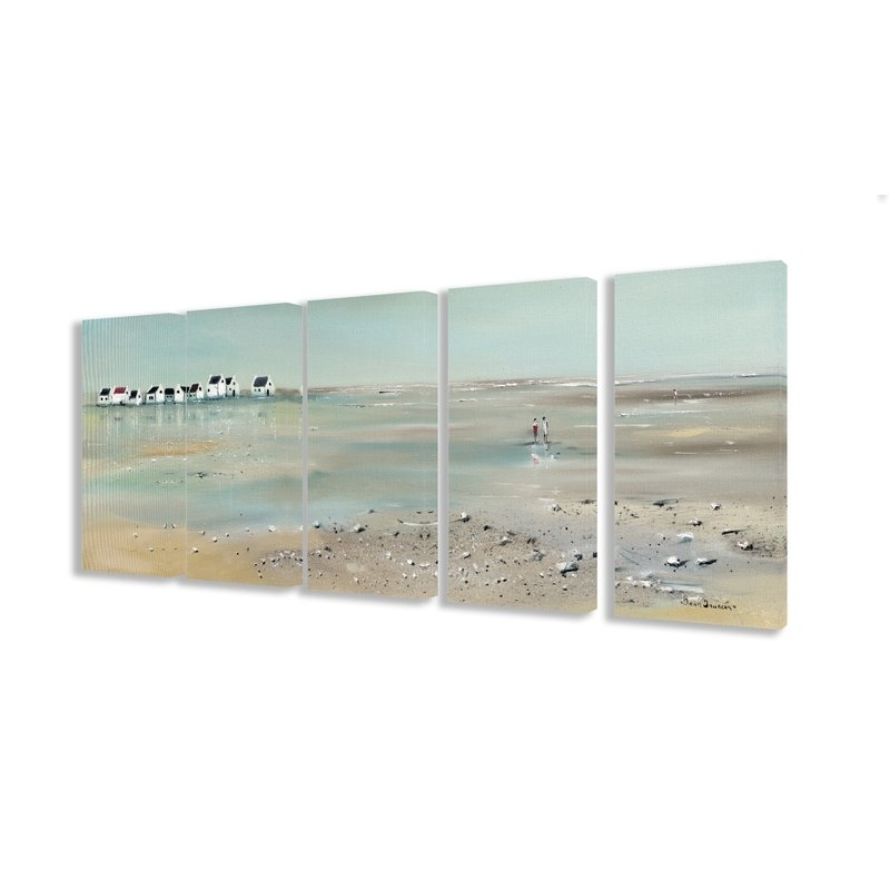 Beachcrest Home 'a Stroll Down On The Beach' 5 Piece Canvas Wall Art Throughout 5 Piece Canvas Wall Art (View 20 of 25)