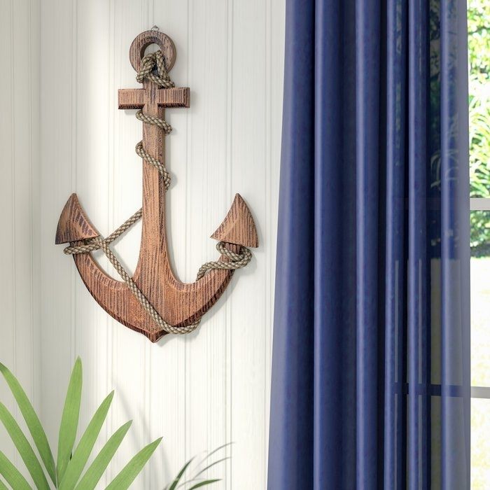 Beachcrest Home Nautical Perfect Anchor Wall Decor – Wall Decoration Regarding Anchor Wall Art (Image 9 of 25)