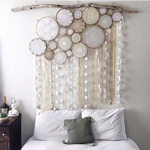 Beautiful!! Crochet Art Framed In Embroidery Hoops | Things I Love Regarding Crochet Wall Art (Image 2 of 20)
