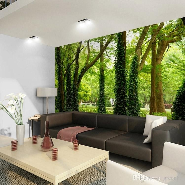 Beautiful Woods Wallpaper Custom Wall Mural Nature Landscape Photo Inside Custom Wall Art (View 16 of 20)