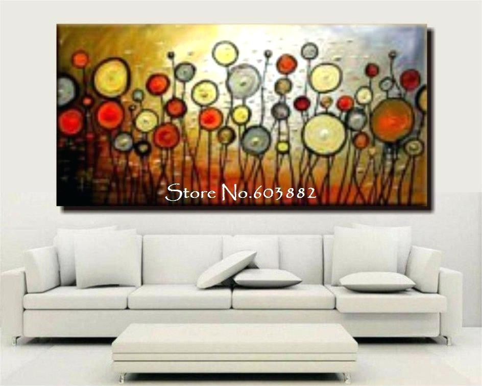 Bedding Fancy Large Wall Paintings 2 Discount Handmade Canvas Big Inside Discount Wall Art (Image 4 of 25)