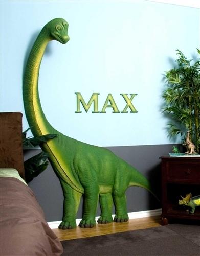Beetling Brachiosaurus Dinosaur 3D Wall Art Decor With Regard To Dinosaur Wall Art (Image 3 of 20)