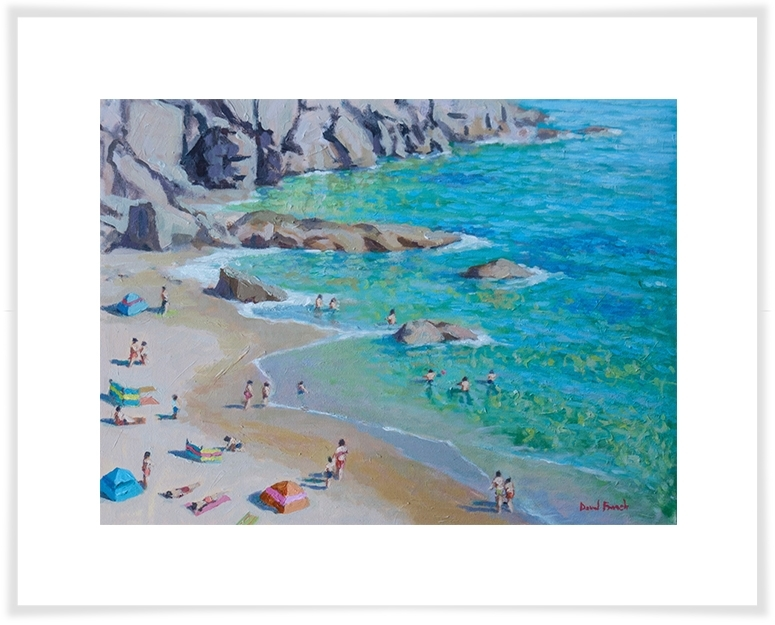 Beneath The Cliffs, Beach & Ocean Canvas Wall Art | Greenbox Pertaining To Ocean Wall Art (Image 8 of 25)
