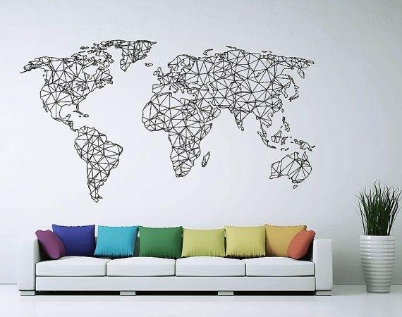 Best 25 Map Wall Art Ideas On Pinterest Cool World Map World Map Inside Map Of The World Wall Art (View 25 of 25)