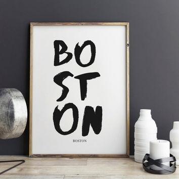 Best Boston Wall Art Products On Wanelo Inside Boston Wall Art (Image 5 of 25)