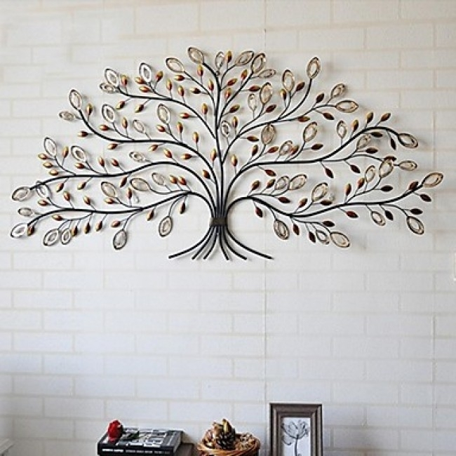 Best Contemporary Metal Wall Decor Tree Pertaining To Home Remodel Within Metal Wall Art Trees (Image 1 of 25)