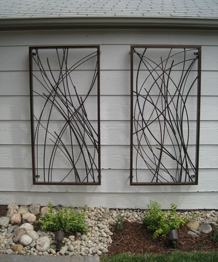 Featured Image of Outdoor Metal Wall Art