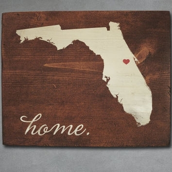 Best Florida State Decor Products On Wanelo Regarding Florida Wall Art (View 4 of 20)