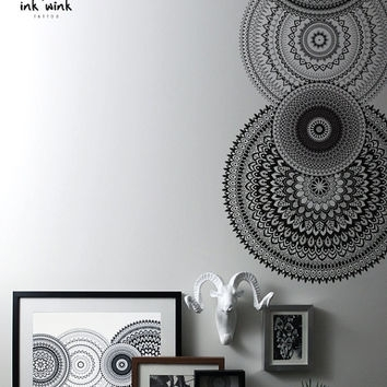 Best Mandala Artwork Products On Wanelo, Mandala Wall Art – Swinki Within Henna Wall Art (Image 6 of 25)