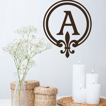 Best Monogram Initials Wall Art Products On Wanelo In Monogram Wall Art (Image 4 of 25)