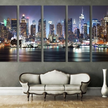 Best New York Skyline Wall Decor Products On Wanelo Within Nyc Wall Art (Image 5 of 25)