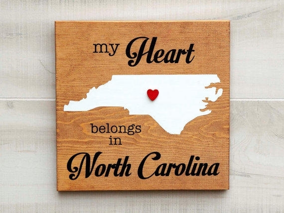 Best North Carolina Wall Decor Products On Wanelo With North Carolina Wall Art (Image 3 of 20)