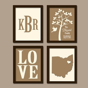 Best Personalized Tree Initials Wall Art Products On Wanelo Pertaining To Personalized Wall Art (Image 1 of 10)