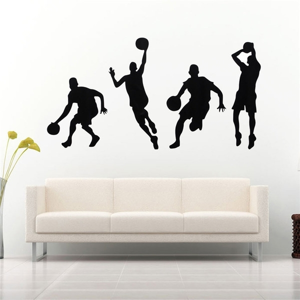 Best Promotion Diy Basketball Wall Art Basketball Players Kids Room Throughout Basketball Wall Art (Image 4 of 10)