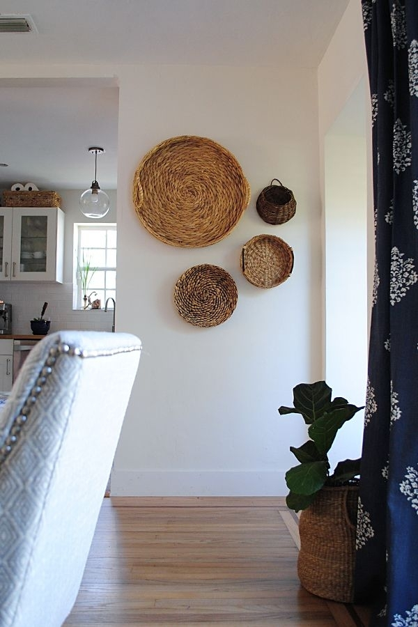 Beyond Organizing: 5 Uses For Baskets And Crates | Happy Decorating Pertaining To Woven Basket Wall Art (Image 3 of 25)