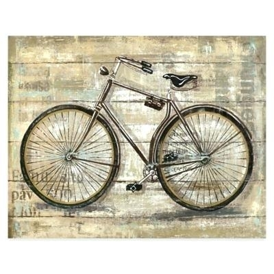 Bicycle Wall Art Canvas Bicycle Wall Art Excellent Ideas Metal Intended For Bicycle Wall Art (Image 4 of 20)