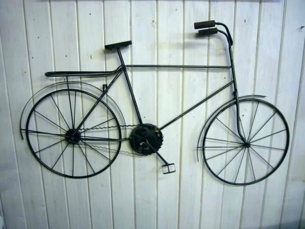 Bicycle Wall Art Decor Bicycle Metal Wall Art Decor Pottery Metal For Bicycle Wall Art (Image 5 of 20)
