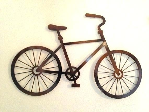 Bicycle Wall Art Jute Decor Metal Fitnessart Beautiful Bike In Bicycle Wall Art (Image 7 of 20)