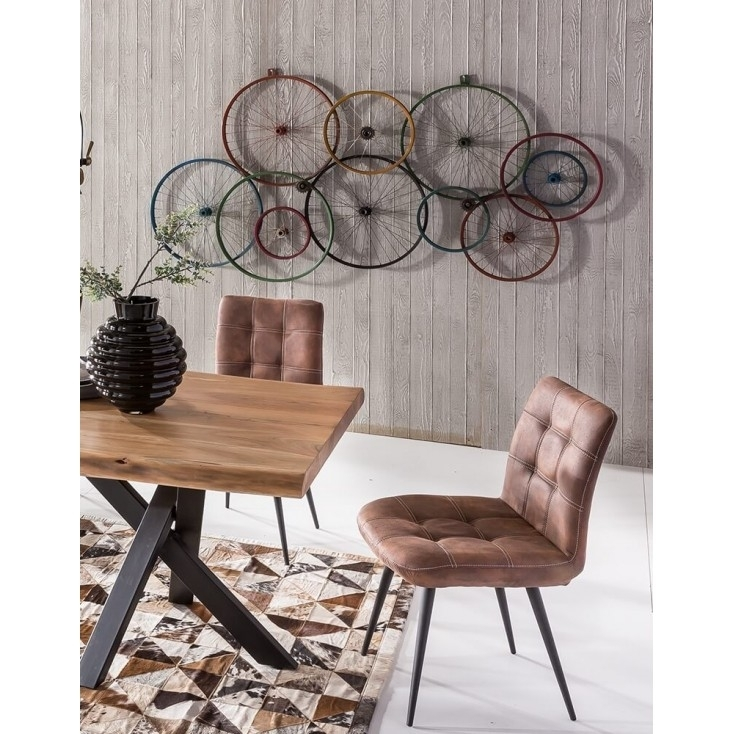 Bicycle Wall Art | Wheels Recycled On Walls Urban Reclaimed Metal Within Bicycle Wall Art (Image 3 of 20)