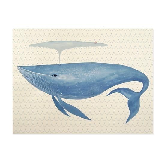 Big Blue Whale Canvas Wall Art | Under The Sea | Pinterest | Big With Whale Canvas Wall Art (View 11 of 25)