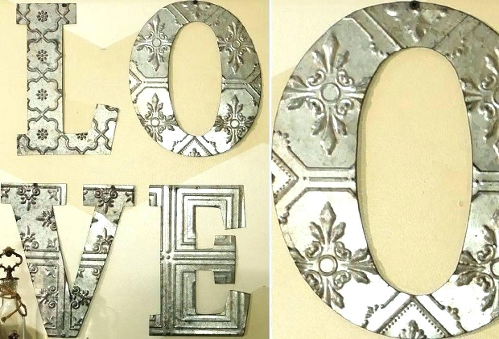 Big Metal Letters Big Letter Wall Decor Metal Letters Home Oversized Inside Metal Letter Wall Art (Image 2 of 25)