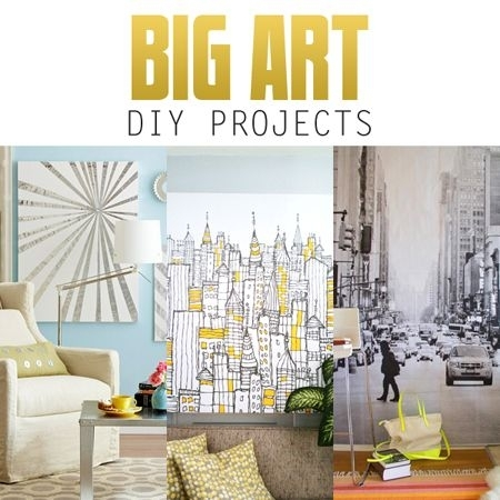 Big Wall Art Diy Projects | Pinterest | Canvases, Modern And Big With Shower Curtain Wall Art (Image 1 of 25)