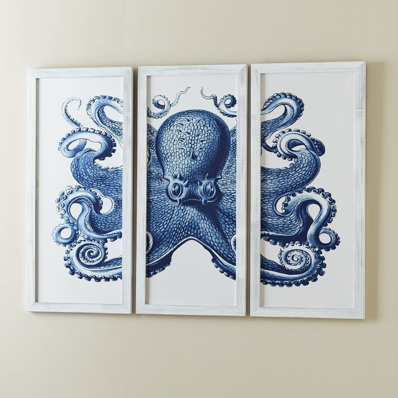 Birch Lane Blue Inspirational Octopus Wall Art – Wall Decoration Ideas Inside Octopus Wall Art (View 19 of 20)