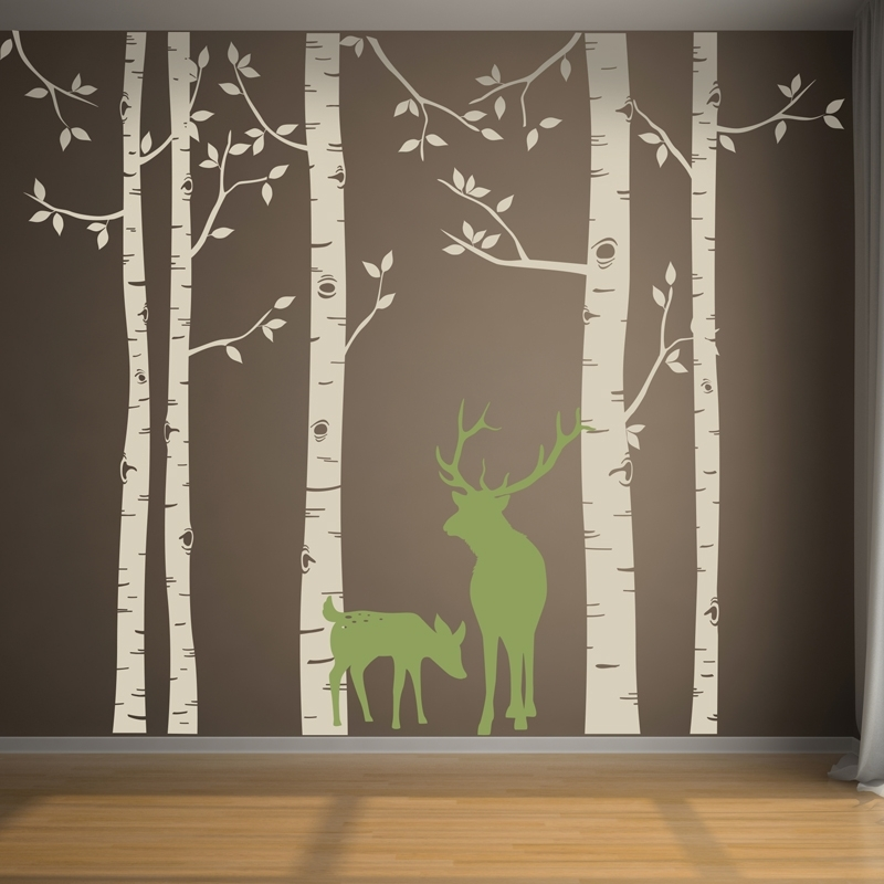 Birch Tree Wall Art Decals : Andrews Living Arts – Look Fresh And Throughout Birch Tree Wall Art (View 10 of 25)