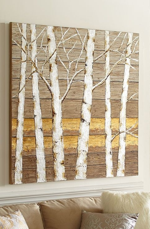 Birch Tree Wall Art From Pier 1 Imports | Wallpaper And Murals Pertaining To Pier 1 Wall Art (Image 2 of 25)