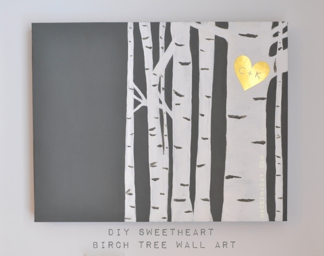 Birch Tree Wall Art Pertaining To Birch Tree Wall Art (View 8 of 25)
