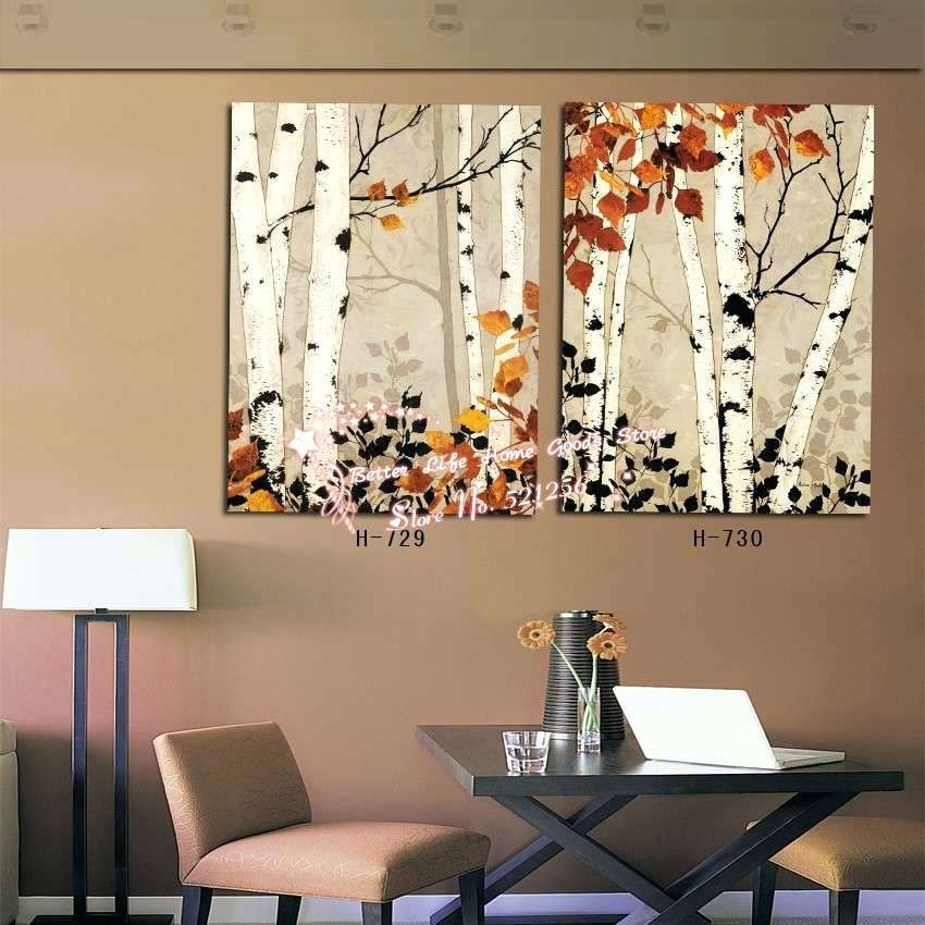 Birch Tree Wall Art S Metal Canvas Diy – Voxtv Regarding Birch Tree Wall Art (View 12 of 25)
