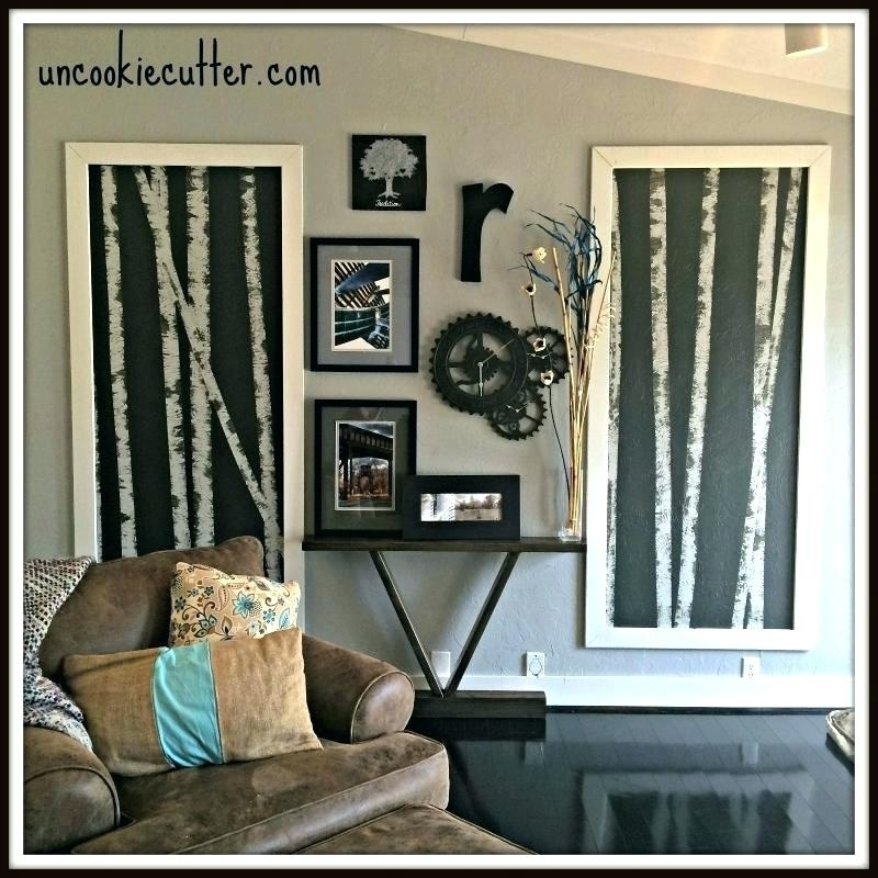 Birch Wall Art How To Paint A Birch Tree Birch Bark Wall Art With Birch Tree Wall Art (View 24 of 25)