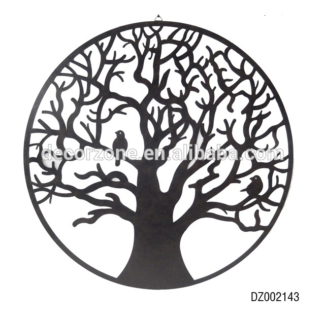 Bird And Tree Metal Wall Art Decor – Buy Tree Metal Wall Art Decor Regarding Metal Wall Art Trees (Image 2 of 25)