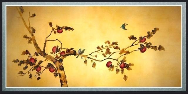 Bird Canvas Wall Art Wall Art Designs Oriental Wall Art Birds On With Regard To Bird Framed Canvas Wall Art (Image 8 of 25)