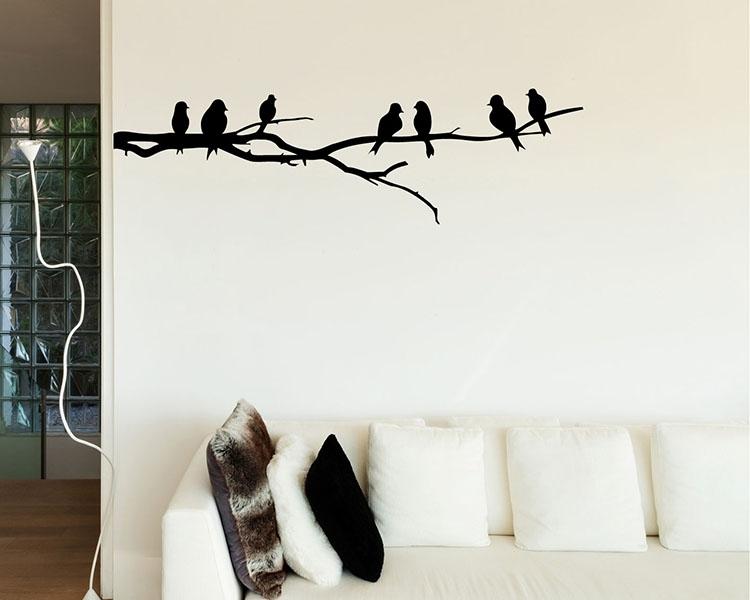 Bird Wall Decals – Vinyl Wall Art Stickers Intended For Bird Wall Art (Image 2 of 10)