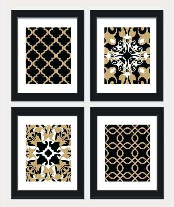 Black And Gold Wall Art Black And White Wall Decor Best Of Items Throughout Black And Gold Wall Art (Image 9 of 25)