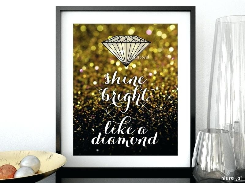 Black And Gold Wall Art Gold Wall Art For Bedroom White And Gold Intended For Black And Gold Wall Art (Image 12 of 25)