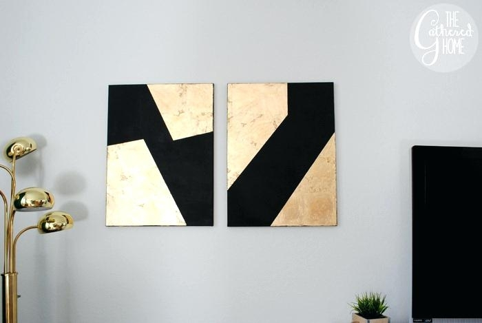 Black And Gold Wall Art Large N Rose – Libdrone In Black And Gold Wall Art (Image 13 of 25)