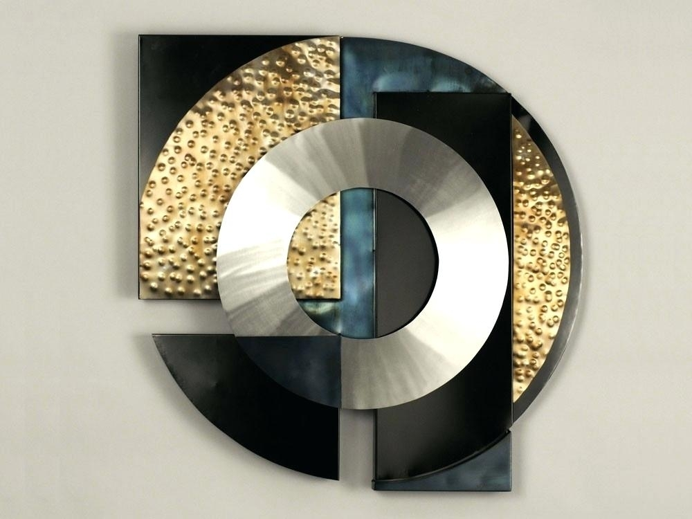 Black And Gold Wall Art White Wallpaper Simple Wall Art Buy Round Inside Black And Gold Wall Art (Image 14 of 25)