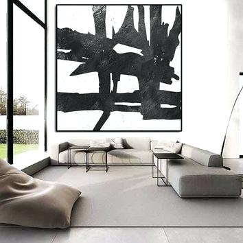 Black And White Abstract Wall Art Black And White Abstract Wall Art Regarding Black And White Large Canvas Wall Art (Image 2 of 25)