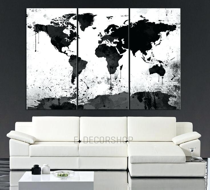 Black And White Canvas Art Black Wall Art Black White Grey Wall Art Intended For Black Wall Art (View 10 of 20)
