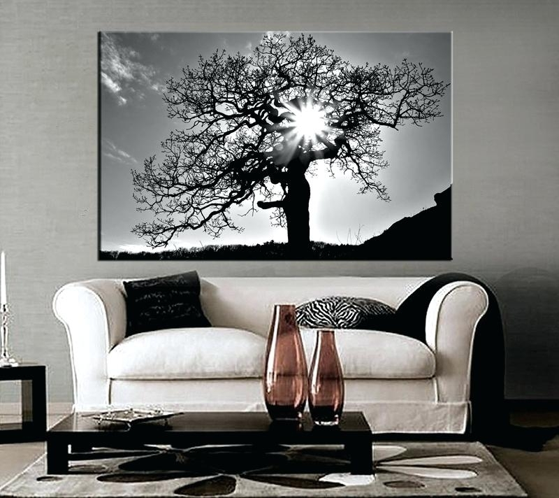 Black And White Canvas Wall Art 1 Piece Canvas Photography Living Throughout Black And White Large Canvas Wall Art (Image 3 of 25)