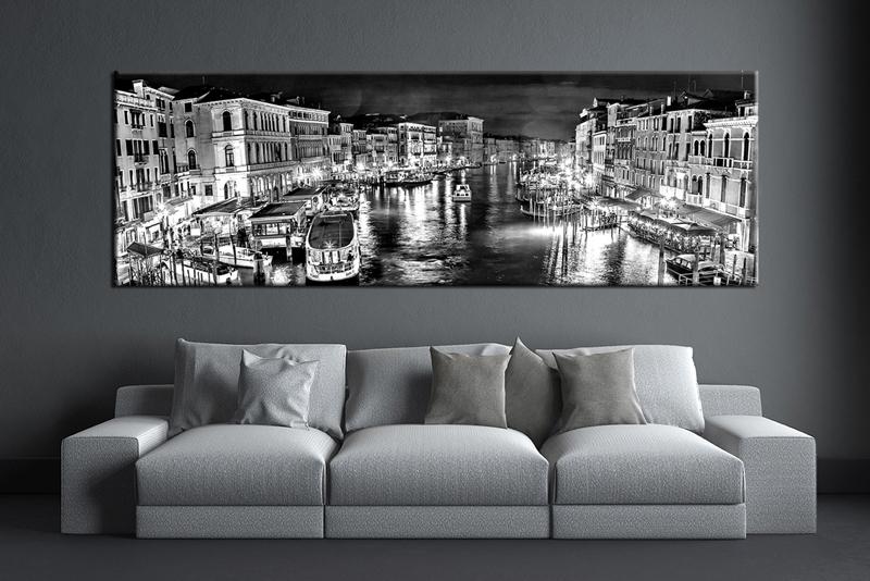 Black And White City Canvas Art | Sevenstonesinc Regarding Black And White Large Canvas Wall Art (Image 4 of 25)