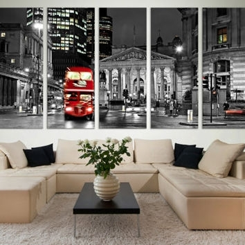 Black And White London Wall Art Gift / From Zellartco On Etsy With London Wall Art (View 19 of 25)
