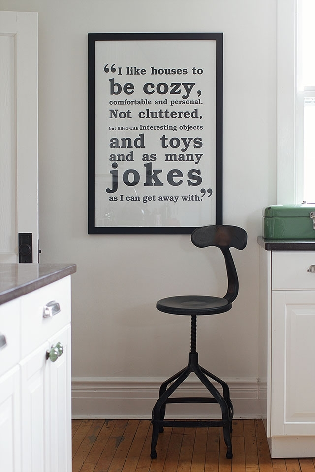 Black And White Wall Art For The Kitchen – Making It Lovely Within Wall Art For Kitchen (Image 3 of 20)