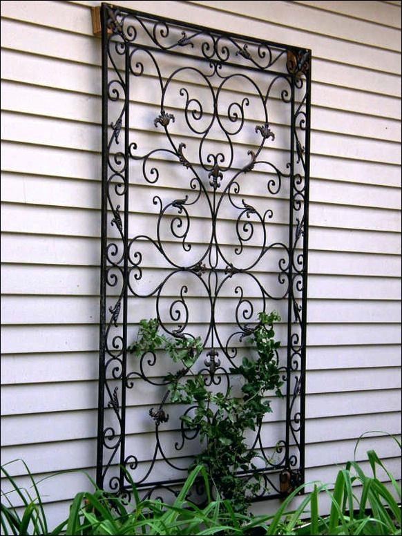 Black Iron Wall Decor Wall Art Design Ideas Wrought Iron Metal With Regard To Metal Outdoor Wall Art (Image 1 of 25)