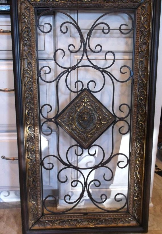 Black Iron Wall Decor Wrought Iron Wall Art For Sale Impressive Wall Regarding Wrought Iron Wall Art (Image 1 of 10)
