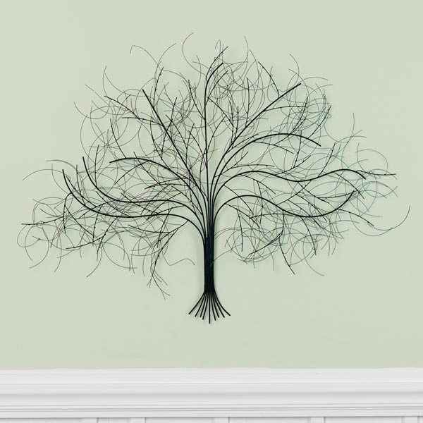Black Tree Metal Wall Art At Signals | Hh5624 Intended For Metal Wall Art Trees (Image 3 of 25)