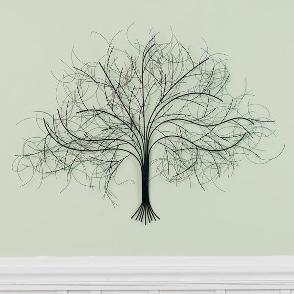 Black Tree Metal Wall Art At Signals   Hh5624 With Regard To Wall Tree Art (Image 4 of 20)